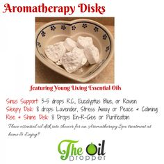 Made your own aromatherapy vapor breathe disk at home with 2 simple ingredients. So many uses!