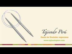 Tejer con AGUJAS CIRCULARES: pocos puntos-cable largo CLASE 2 - YouTube