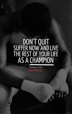 Boxing~ true pain is temporary