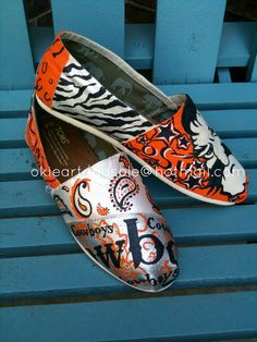 Custom hand painted TOMS made to order.. $150.00, via Etsy.