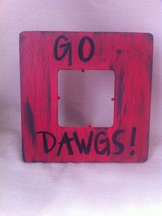 Georgia Bulldogs handpainted frame by BristolMaxCreations on Etsy, $10.00