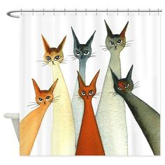 Seville Stray Cats Shower Curtain on CafePress.com