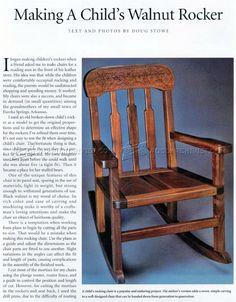 Kids Rocking Chair Plans - Children's Furniture Plans