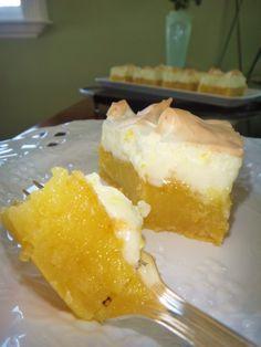 Barrinhas cremosas de limão siciliano e merengue