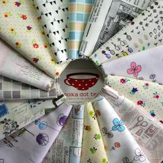 Scrap Pack of sixteen fat sixteenths  Low by PolkaDotTeaFabrics, $27.00