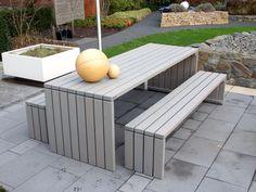 Gartentisch 1 Holz, 180 x 80 cm, Transparent Grau Geölt