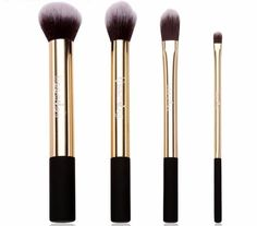 professional gold and black makeup brushes ❤