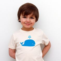 Whale Kid's T by Holly Cruise via fab: Made of 100% organic cotton, $16 #Kids #T_Shirt _Whale #Molly_Cruise