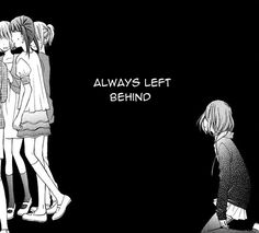 I'm always left behind and I feel like no one cares anymore... I wanna die so badly....-chy
