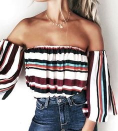 #summer #outfits / stripes