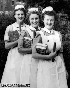 Student nurses - a little snapshot from nursing history. I have a photo like this of my grandmother from when she was in nursing school :-)