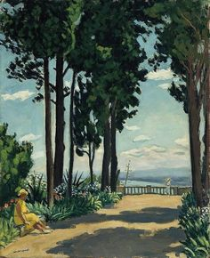 Albert Marquet (French, 1875-1947) St. Raphael, the Terrace, 1932 Oil on canvas
