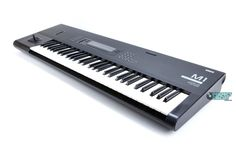 Korg M1. my 1st synth, which I bought after seeing in the Cure's Lovesong video in 1989