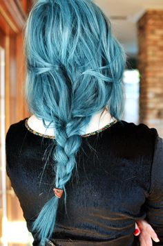 Obsessed with colored hair. Especially blue hair.