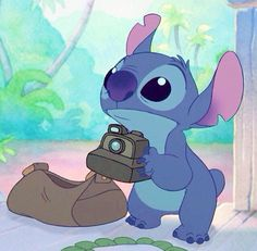 Stitch going to take pictures