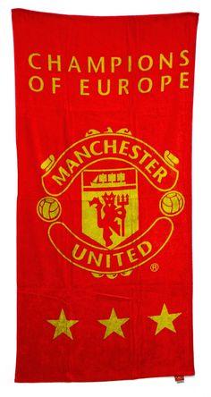 Manchester United MUFC Champions Of Europe 100% Cotton Towel Man Utd Official in Home, Furniture & DIY, Bath, Towels   eBay #HarvardMills #LordOfTheLinens #ManchesterUnited #MUFC #ManchesterUnitedFootballClub #football #support #team #sport #manu #manutd #reddevils