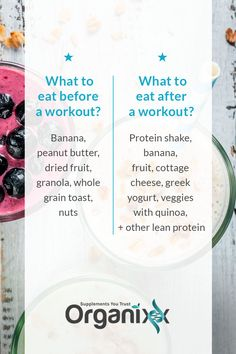 WORKOUT FOOD: If you're working out, what you eat and when you eat it is important. Here's what you should eat before and after a workout. Click on the image above to discover another great way to integrate bone broth into your diet and 50 healthy bone broth protein recipes. Enjoy!  | good exercise food | protein shakes | brone broth benefits | #organixx #organixxhealthtips #workouttips