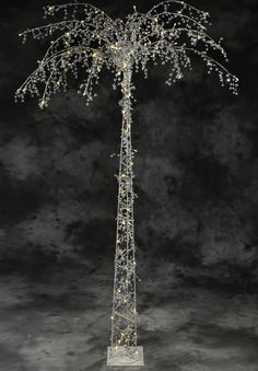 This swanky Tree with Crystal Clear Acrylic Beads and LED Lights is EXQUISITE!  It's absolutely one of the easiest ways to add an elegant showpiece that's perfect for weddings, parties, events or for e