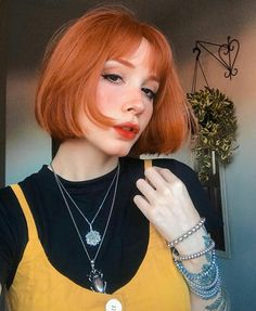 Image shared by ♡Only Girls♡. Find images and videos about hairstyle, orange and redhead on We Heart It - the app to get lost in what you love. Hair Inspo, Hair Inspiration, Ginger Hair Color, Androgynous Hair, Dead Hair, Hot Haircuts, Trending Haircuts, Dye My Hair, Girl Short Hair
