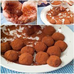 Chocolate truffles- Ciocolată şi fructe exotice « KissTheCook Chocolate Truffles, Cookies, Desserts, Food, Truffle, Crack Crackers, Tailgate Desserts, Deserts, Biscuits