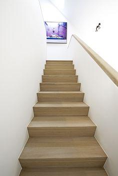 Mooie rustieke open trap in hout trappen pinterest - Redo houten trap ...