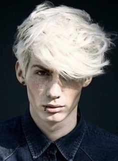 Platinum Blonde Men Hairstyle 2013 Summer Hair Color