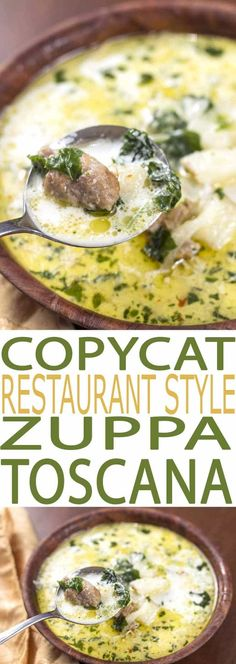 Zuppa Toscana Soup is a flavorful recipe that's both easy to eat and to make. It is filled with healthful kale, a superfood full of essential nutrients. Make this easy soup recipe for dinner tonight. It is full of flavor and a perfect comfort food meal.