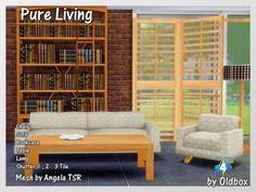 Pure Living recolor by Oldbox at All 4 Sims via Sims 4 Updates