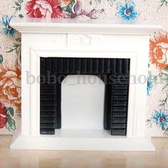 1/12 Scale Miniature White Fireplace Dollhouse Home Decor Furniture Accessories | eBay