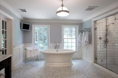 24 Luxury Master Bathrooms With Soaking Tubs: http://www.homeepiphany.com/24-luxury-master-bathrooms-with-soaking-tubs/