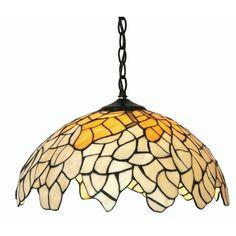 Oaks OT 1302/16 P Titania  1 Light Tiffany Pendant