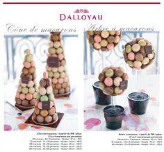 pyramide et arbre de macarons Dalloyau