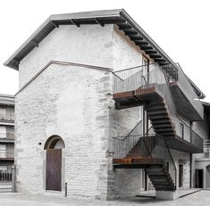 Image 1 of 20 from gallery of Monastery of San Giuliano Restoration & architetti. Photograph by Gianluca Gelmini Amazing Architecture, Contemporary Architecture, Landscape Architecture, Interior Architecture, Interior And Exterior, Conservation Architecture, Abandoned Factory, Adaptive Reuse, Brick And Stone
