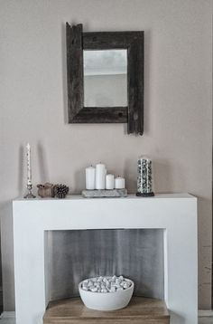 Salvaged old ships handrail mirror handmade by Sarah Davies @ OneOfAKind