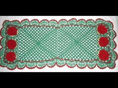 Caminho de mesa em crochê verde: Iniciante Parte1 - YouTube