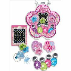 Girls NEON Nail Art Set with Nail Polish, Stickers and Jewels by So Sweet Boutique. $13.99. Great Kit for Gift Giving!. We gift ship and offer FREE gift notes!. Any girl can have stylish nails with this cute nail kit! This nail art set comes complete with 1 two-way pen and brush, 5 nail polishes, assorted jewels, 1 emry board, 2 toe separators and nail stickers.. Save 30%!