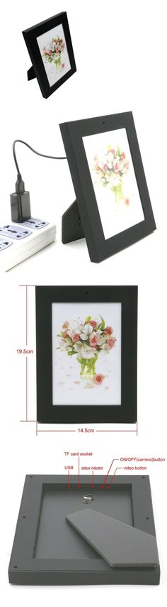 Surveillance Gadgets: New Picture Frame Hidden Nanny Spy Hd Video Camera / Microphone With Motion Dete BUY IT NOW ONLY: $32.53