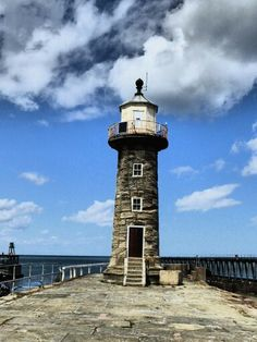 Lighthouse at Whitby on East Pier by Caree