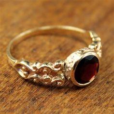 Haviland Vintage Garnet Engagement Ring circa 1915