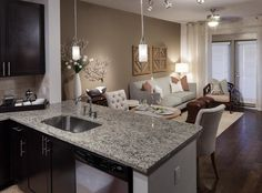 Model Living And Dining Room At AMLI Ponce Park A Luxury Apartment Community Coming Soon