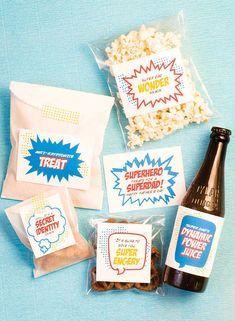 Superhero Snacks Labels   10 Fun Father's Day Printables - Tinyme Blog