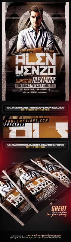 DJ Flyer PSD Template - Clubs & Parties Events