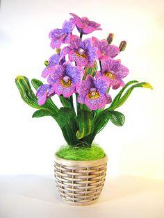 Орхидея Мильтония   biser.info - всё о бисере и бисерном творчестве
