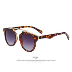 Cool Vintage Sunglasses Leopard and Gold Bar
