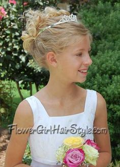 Flower Girl Hairstyles Photos - Updos, Flowers and More!