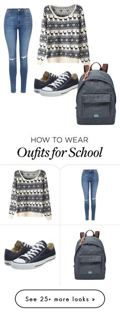 School by chrstyless on Polyvore featuring Topshop, Converse, FOSSIL, womens clothing, women, female, woman, misses and juniors