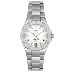 Women's Wrist Watches - Bulova Womens 96R24 Marine Star Diamond Accent Watch ** For more information, visit image link.