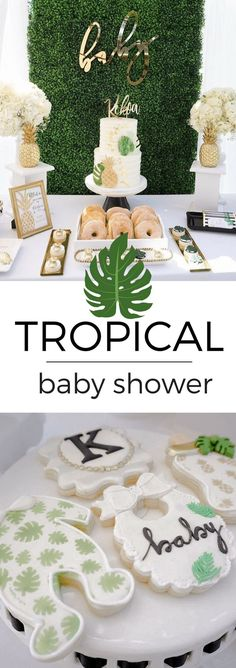This tropical, hawaiian baby shower had the guests cheering with delight. Filled with golden treats and tropical party ideas, this event was one to remember. via @tinselbox_