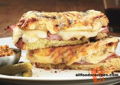 French Bistro Sandwich – This sandwich is delicious and cheesy which will never make you feel bore. Also the presence of ham makes a great filling.    RECIPE : http://www.allfoodsrecipes.com/recipe/french-bistro-sandwich/