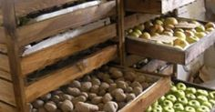 farmhouse root vegetable storage - Google Search